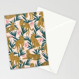 Cheetah jungle print on blush pink  Stationery Cards