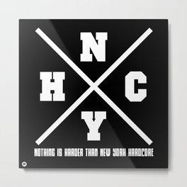 New York hardcore Metal Print