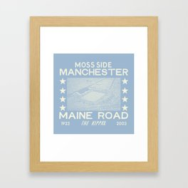 Maine Road Football Ground Framed Art Print