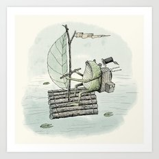 'Raft' (Colour) Art Print