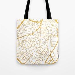 SHEFFIELD ENGLAND CITY STREET MAP ART Tote Bag