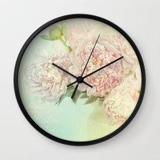 peony dream Wall Clock