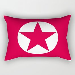North Korea flag emblem Rectangular Pillow