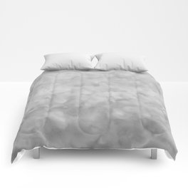 Soft Gray Clouds Texture Comforters
