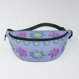 Blue and Purple Pattern II Fanny Pack