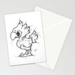 Chocobo Handmade Drawing, Made in pencil and ink, Tattoo Sketch, Final Fantasy Art Stationery Cards
