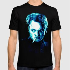 James Cagney, blue Madness. Mens Fitted Tee Black X-LARGE