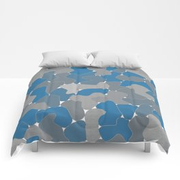 Blue Wall Etching Comforters