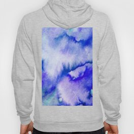 Watercolor texture - electric blue Hoody