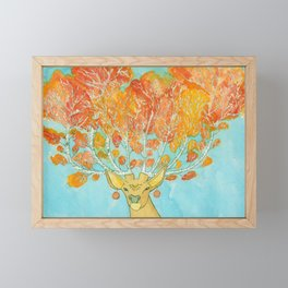 Autumn Deer Framed Mini Art Print