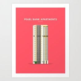 Pearl Bank Apartments, Singapore [Building Singapore] Art Print