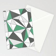 Geo - gray, green and white. Stationery Cards