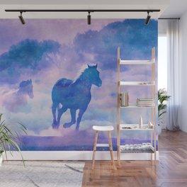 Horses run Wall Mural