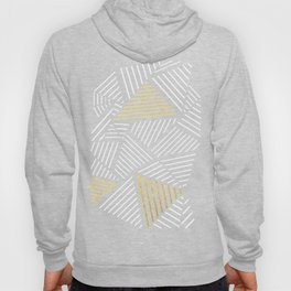A Linear Black Gold Hoody