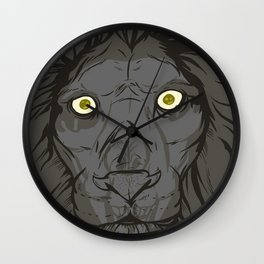 The King's Ghost Wall Clock