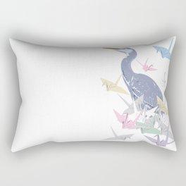 Crane wit paper origami cranes Rectangular Pillow