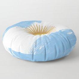 Argentina's Flag Design Floor Pillow