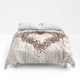 Pip Berry Heart Wreath Comforters