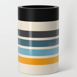 Vintage Retro Stripes Can Cooler