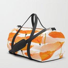 Orange Poppies On A White Background #decor #society6 #buyart Sporttaschen