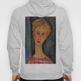 """Amedeo Modigliani """"A Blonde Wearing Earrings"""" Hoody"""