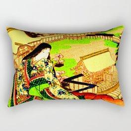 Kyoto Ukiyoe Landscape Rectangular Pillow