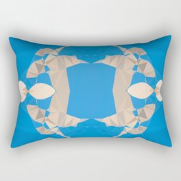 TWO COLOURS - BLUE AND WHITE Rectangular Pillow