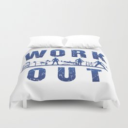 Work Out Duvet Cover