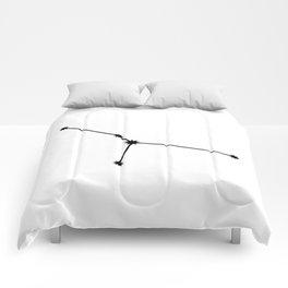 Cancer Star Sign Black & White Comforters