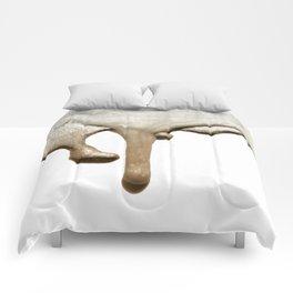 LIQUID SILVER & NUDE Comforters