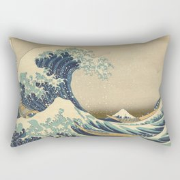 The Great Wave - Katsushika Hokusai Rectangular Pillow