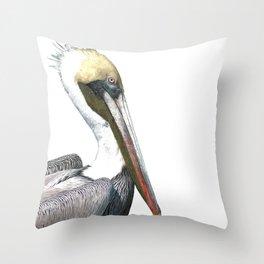 Pelican Portrait Throw Pillow