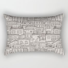Urbana Ivory & Charcoal Rectangular Pillow