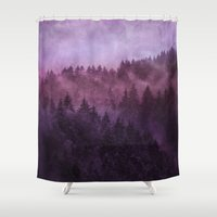 country Shower Curtains featuring Excuse me, I'm lost // Laid Back Edit by Tordis Kayma