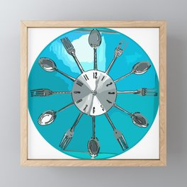 Cutlery O'clock Framed Mini Art Print