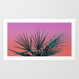 Pink Palm Life - Miami Vaporwave Art Print