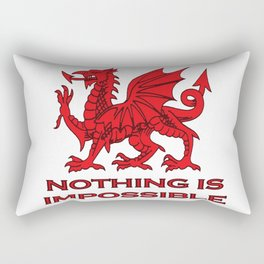 Nothing Is Impossible Red Dragon Rectangular Pillow