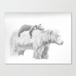 Mama and Cub Canvas Print