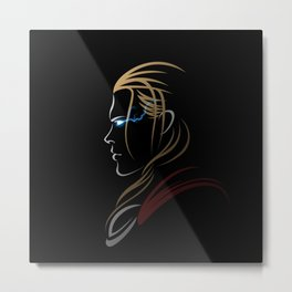 Half-face - Thor - Avenger Metal Print