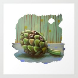Sassy Artiqueen Dragichoke Art Print