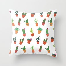 Happy Succulents Throw Pillow
