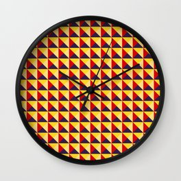 Abstract Triangle Pattern - Colorway #1 Wall Clock