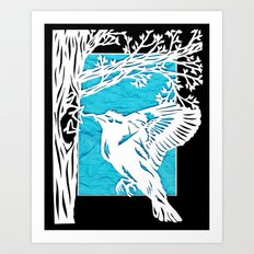 Goldfinch Mother Art Print