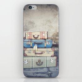 Vintage Suitcases iPhone Skin