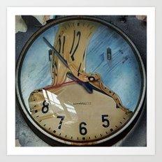 MELTED CLOCK Art Print