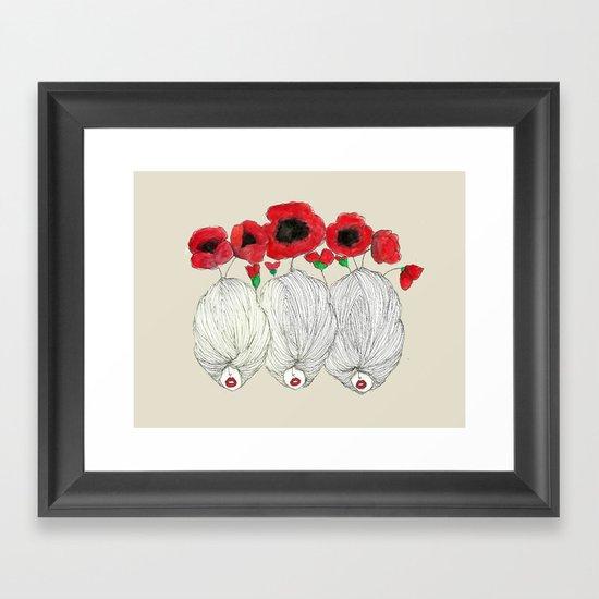 Poppy Girls Framed Art Print