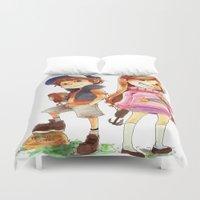 gravity falls Duvet Covers featuring Gravity Falls by Archiri Usagi