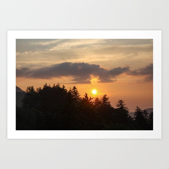Smoky Mountains Sunset Art Print