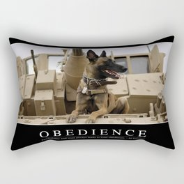 Obedience: Inspirational Quote and Motivational Poster Rectangular Pillow
