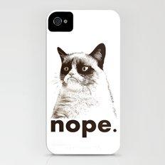 NOPE - Grumpy cat. Slim Case iPhone (4, 4s)